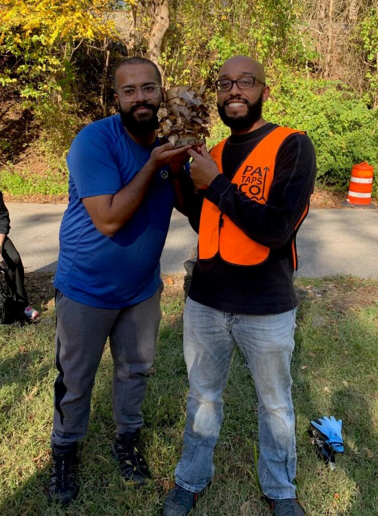 photo of winners of invasive cleanup